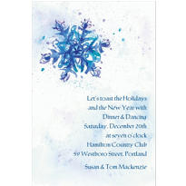Elegant Snowflake Custom Christmas Invitation