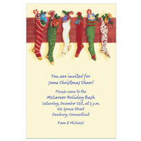 Sweet Christmas Stockings Custom Invitation