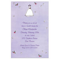 Sweet Bride's Dress Custom Invitation