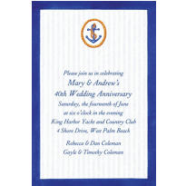 Anchor & Stripes Custom Invitation