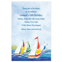 Summer Sailing Custom Invitation