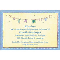 Baby Boy Laundry Custom Baby Shower Invitation