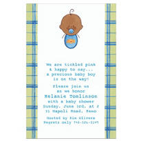 Baby Boy Portrait African Custom Baby Shower Invitation