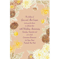 Yellow Zinnias Custom Invitation