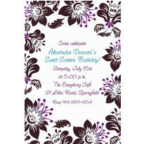 Damask Blossoms Custom Invitation