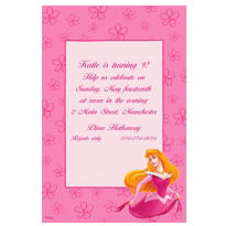 Aurora on Pink Daisies Custom Invitation