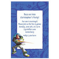 Custom Buzz Lightyear Border Invitations