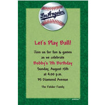 Los Angeles Dodgers Custom Invitation