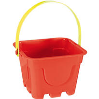 Red Square Pail 4in x 5in
