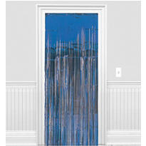 Blue Foil Doorway Curtain 8ft