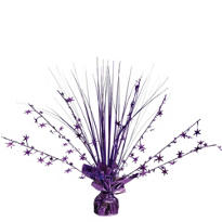 Purple Foil Spray Centerpiece 12in