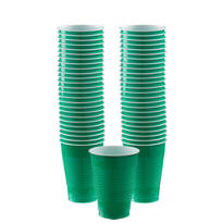 Festive Green Plastic Cups 12oz 50ct