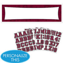 Burgundy Personalized Banner
