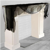 Shocktails Black Cheesecloth Drape 8ft