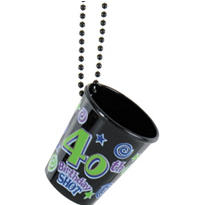 40th Birthday Shot Glass Necklace