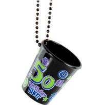 50th Birthday Shot Glass Necklace