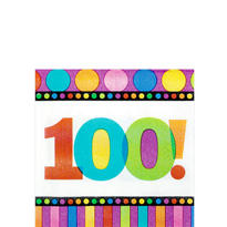 Dots & Stripes 100th Birthday Party Supplies