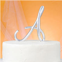 Monogram A Wedding Cake Topper