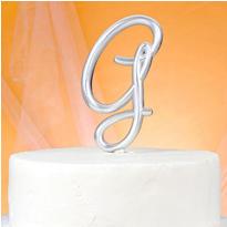 Monogram G Cake Topper