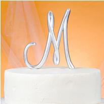 Monogram M Wedding Cake Topper