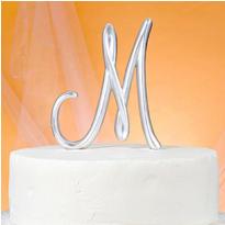 Monogram M Cake Topper