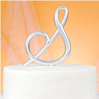 Monogram S Wedding Cake Topper