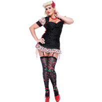Adult French Kiss Pin-Up Girl Costume Plus Size