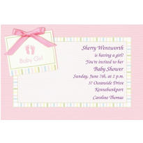 Custom Baby Soft Pink Baby Shower Invitations