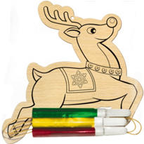 Reindeer Wood Ornament Activity Kit