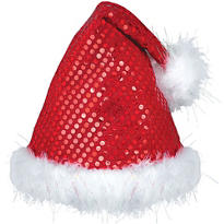 Sequin Santa Hat