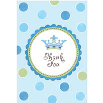 Little Prince Baby Shower Thank You Notes 8ct