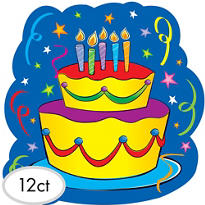 Happy Birthday Cake Cutout