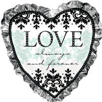 Foil Always & Forever Heart Wedding Balloon 28in