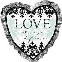 Wedding Balloon - Always & Forever Heart