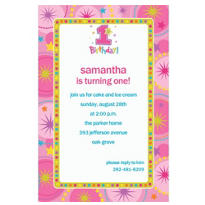 One-Derful Girl 1st Birthday Custom Invitation