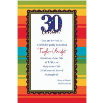 A Year to Celebrate 30th Birthday Custom Invitation