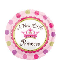 Foil Little Princess Baby Shower Balloon 18in