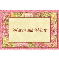 Tapestry Blossom Custom Thank You Note