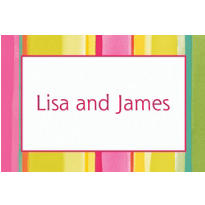 Pink Sunny Stripe Custom Thank You Note