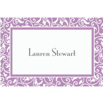 Lavender Ornamental Scroll Custom Thank You Note