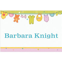 Cuddly Clothesline Custom Baby Shower Thank You Note