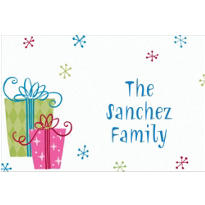 Fancy Christmas Gifts Custom Thank You Note