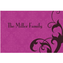 Holiday Filigree Purple Custom Thank You Note
