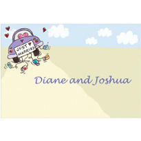 Just Married Custom Thank You Note