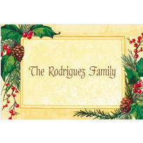 Pretty Holiday Foliage Custom Thank You Note