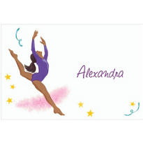 Leaping Gymnast African Custom Thank You Note