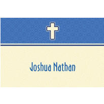 Simple Modern Cross Custom Thank You Note