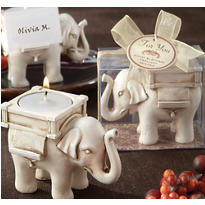 Lucky Elephant Tea Light Holder Wedding Favor