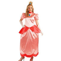 Adult Princess Peach Costume Plus Size Deluxe - Super Mario Brothers