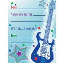 Rock Star Fill In Thank You Notes 8ct